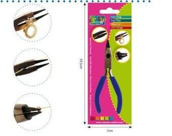 Pince à bijoux 3 en 1 bec recourbé - Vaessen Creative - Ref 23701/015 ---------- Jusqu'à épuisement du stock !