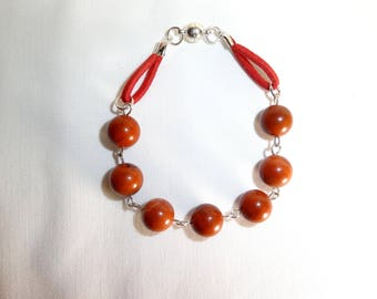Therapeutic and fake red Jasper Stretch Bracelet