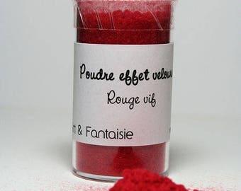 Powder effect red velvet (fun flock)