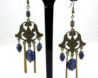 Earrings, Lapis Lazuli Rukia