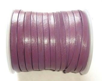 Purple flat leather strap