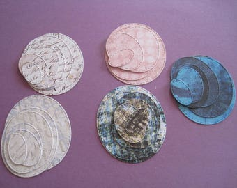 Wholesale lot of background papers, cuts, dies, oval, Scripture