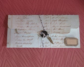 Gift box, Bank, vintage, retro, vintage handwriting, small kraft label