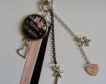 Bag charm, Keychain MOM who rocks