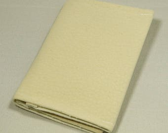 Business card holder in sueine ivory
