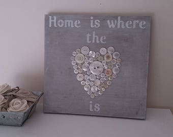 """""""Home is where the heart is"""" decorative painting"""