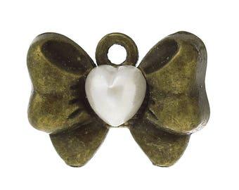 5 charm SC59213 18x13mm bronze bow charm