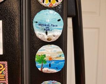 Shell Arts: small magnet Sand dollars