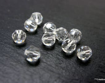 20 7 mm faceted swarovski crystal beads