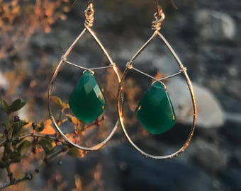Green Onyx & Gold
