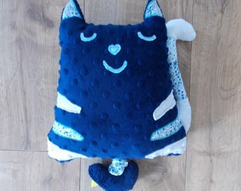 """"""""""" musical Plush / Pillow personalized blue minky and blue liberty adeladja sings """"imagine"""""""