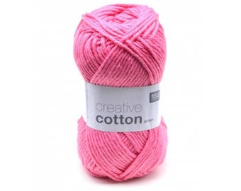 Creative cotton aran from Rico Design 14 colors to choose from, 100% cotton, 50 grams, 85 m