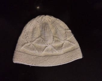 Hat for women hand knit cashmere.