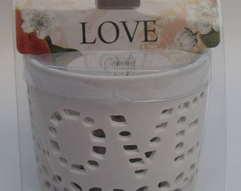 """CANDLE and TEALIGHT candle """"LOVE"""" Collection LUMINESCENCE"""