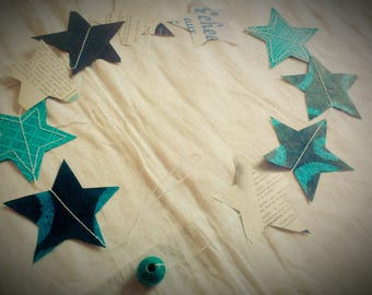 Sewn paper 0.9 m Garland with stars