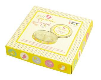 KIT PRINTS - ARTEMIO - BOX HANDMADE FEET MOM NEW BORN BABY BAPTISM, BIRTHDAY BABY SHOWER
