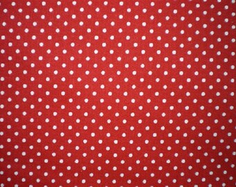 patchwork width 150 cm red polka dot fabric white ref21460