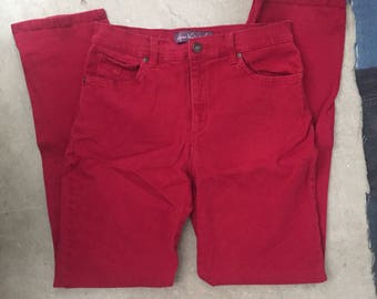 Vintage * high waisted, red, Gloria Vanderbilt
