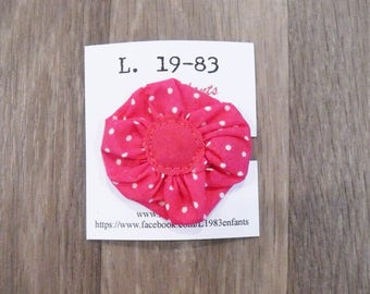 Hot pink hair clip flower shape