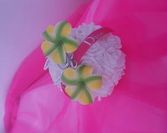 wire aluminum foam flower hair jewelry