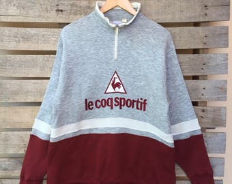 Rare! Vintage Lecoq Sportif Sweatshirt Big Logo Jumper Pullover 90s M Size Rare Item