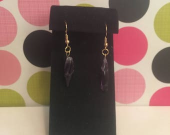 Purple Stone Earrings