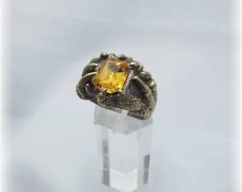 Bronze Dragon claws and rhinestone ring
