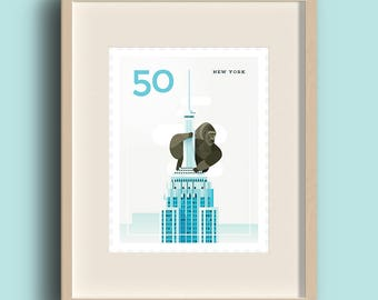 Art Print - Stamp / New York