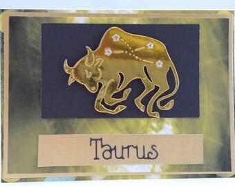 Taurus Greeting Card -Zodiac Card, Horoscope Card, Astrology Card, Constellation Card - Blank on inside