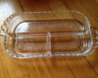 Duncan & Miller Teardrop 3 Section Relish Dish