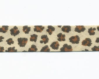 Light brown Leopard bias by the yard