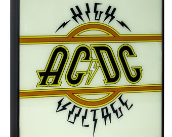 "AC/DC ""High Voltage"" Framed Album Cover Wall Art"