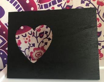 Chalkboard heart frame