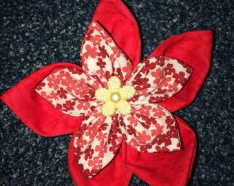 Fabric Flower Clips