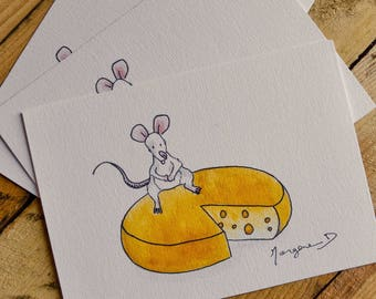 """Postcard """"Sophie the mouse"""""""