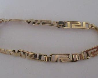 ethnic gold plated bracelet
