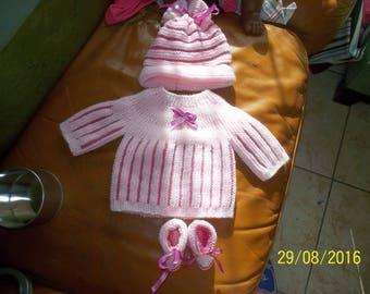 newborn hand knitted baby set