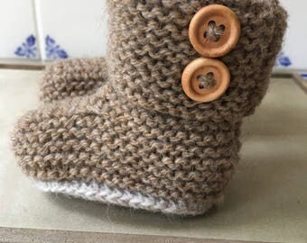 Trendy Hand Knitted Baby Boots