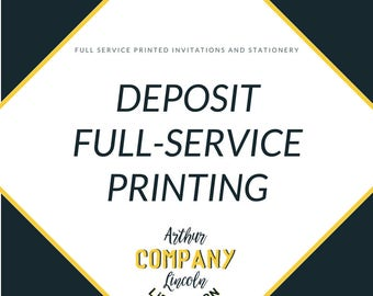 Full Service Printing | Deposit
