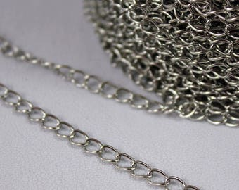 5 meters of chain mesh horse silver plated lead and nickel free for bracelet necklace...