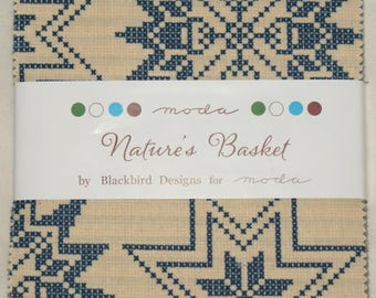 "Patchwork charm pack by moda - ""Nature's Basket""."