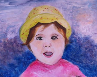 Portrait painting of your child
