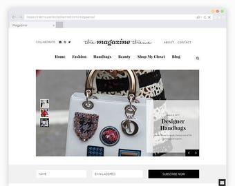 Magazine WordPress Theme - A Fashion WordPress Template for Bloggers and News Publishers
