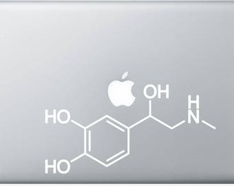 Adrenaline  Molecule Decal for Laptop, or bumper sticker