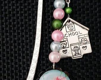 Pink flower bookmark