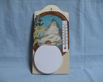 """Notepad and thermometer """"Matterhorn"""" wood Board"""