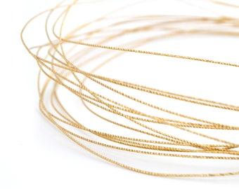 Gold metallic thread cord 0.8 mm copper / FMS002