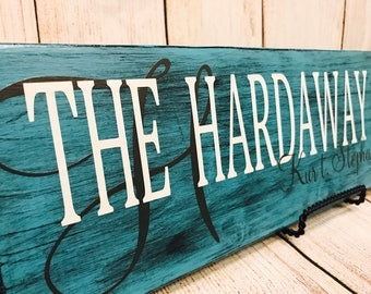 Family name sign - last name sign - personalized sign - wooden sign - handcrafted sign - anniversary gift - wedding gift