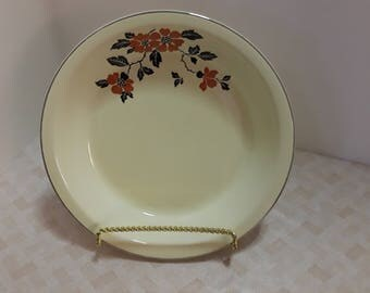 Hall Red Poppy Pie Serving Plate