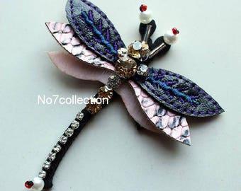 Rhinestone Dragonfly Beaded Patch